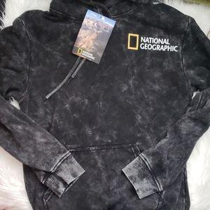 National Geographic Black Tie Dye Photo Hoodie